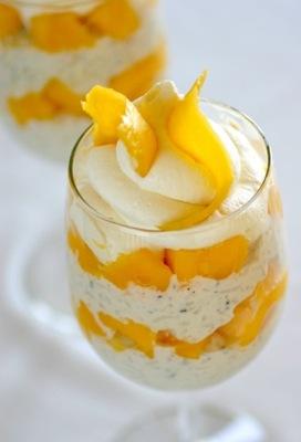 yogurt parfait boozy berry parfait vanilla pudding parfait spicy mango ...