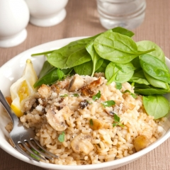 Vegetarian Brown Rice Risotto Recipe