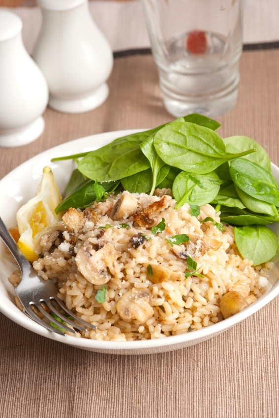 Vegetarian Brown Rice Risotto Recipe on http://www.theculinarylife.com