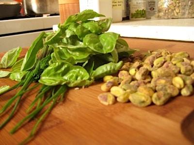 Chopping Board Pistachio Pesto w/ Balsamico on https://www.fearlessfresh.com