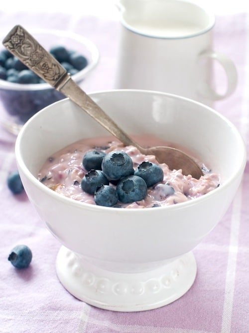 Gluten Free Blueberry Oatmeal on http://www.theculinarylife.com
