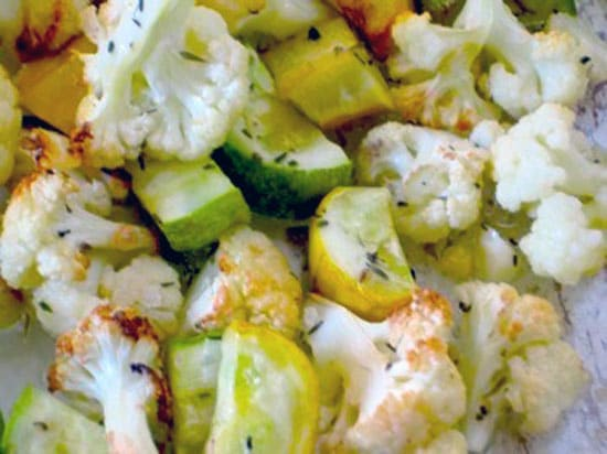Roasted Cauliflower and Zucchini Recipe