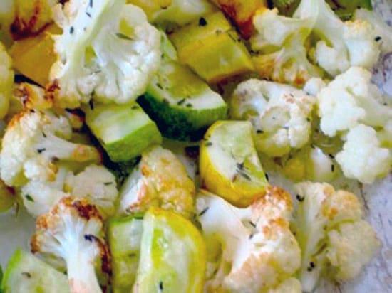 Roasted Cauliflower and Zucchini Recipe