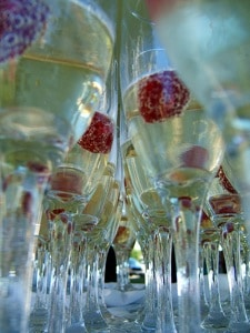 New Years Eve Champagne Cocktails on http://www.theculinarylife.com