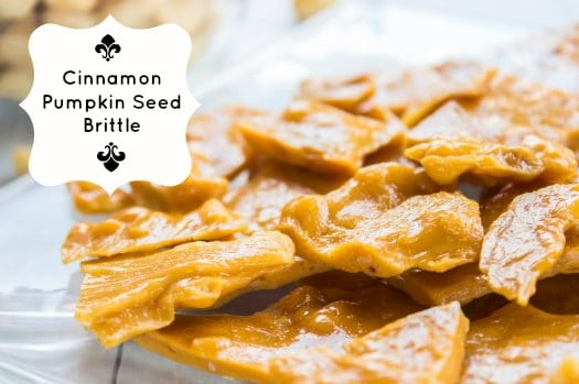 Cinnamon Pumpkin Seed Brittle Recipe on http://www.theculinarylife.com