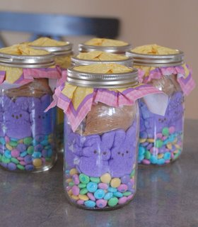 DIY Easter Basket Jars on http://www.theculinarylife.com