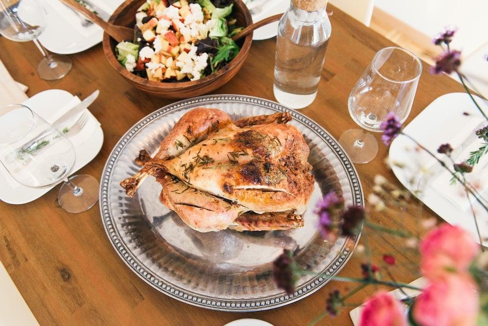 How Long to Roast A Chicken - Platter