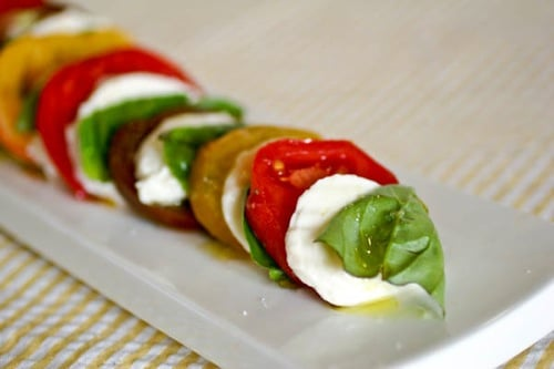Heirloom Tomatoes - Caprese Salad Recipe on http://www.theculinarylife.com
