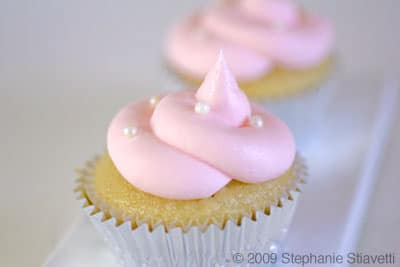 Gluten Free Pink Champagne Cupcakes on http://www.theculinarylife.com