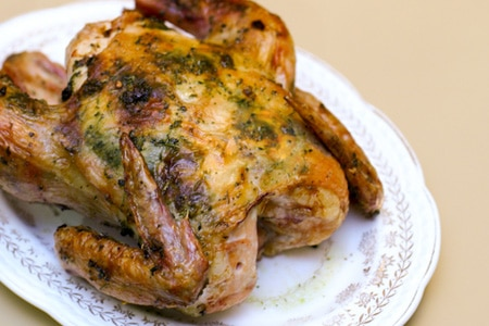Whole Roast Chicken with Fenugreek on http://www.theculinarylife.com