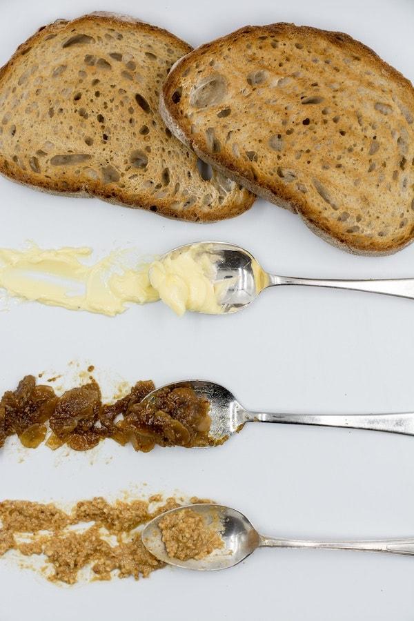 cream bread jam