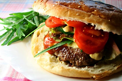 Korean BBQ-Style Asian Burger