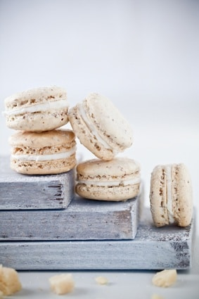 Marzipan Macarons on http://www.theculinarylife.com