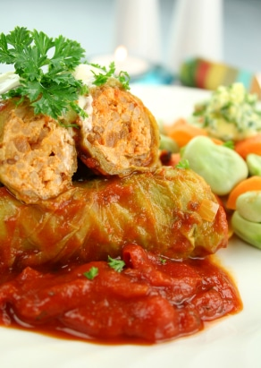 Hearty Stuffed Cabbage Rolls Recipe on http://www.theculinarylife.com