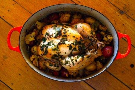 Easy roasted chicken vegetables recipe