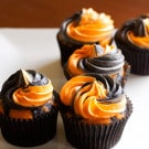Orange and Black Halloween Cupcakes Recipe