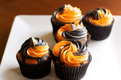 Ghoulishly Gluten Free Halloween Cupcakes on http://www.theculinarylife.com