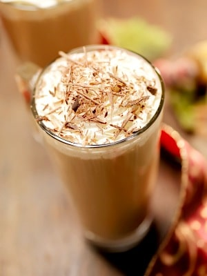 Salted Caramel Hot Chocolate on http://www.theculinarylife.com