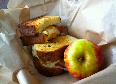 Butternut Squash Grilled Cheese Sandwich with Caramelized Onion and Sage Butter on http://www.theculinarylife.com