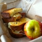 Butternut Squash Gourmet Grilled Cheese Sandwich with Caramelized Onion and Sage Butter