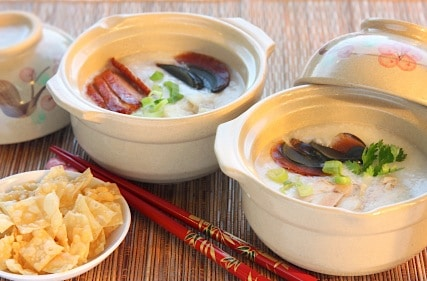 Vegetarian Congee, the Perfect Cold Season Soup on http://www.theculinarylife.com