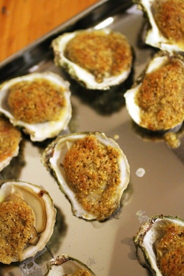 Oysters Rockefeller from Wellfleet, Cape Cod on http://www.theculinarylife.com