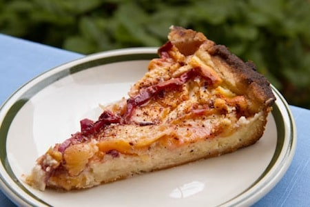 Nectarine Bavarian Torte on http://www.theculinarylife.com