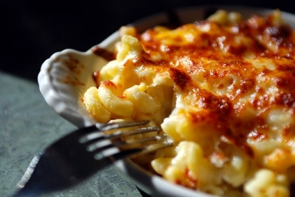 La Tur Macaroni and Cheese with Nectarines and Fig Jam