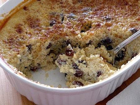 Baked Quinoa Pudding with Raisins on http://www.theculinarylife.com