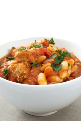 Hearty French Chicken and Sausage Cassoulet on http://www.theculinarylife.com