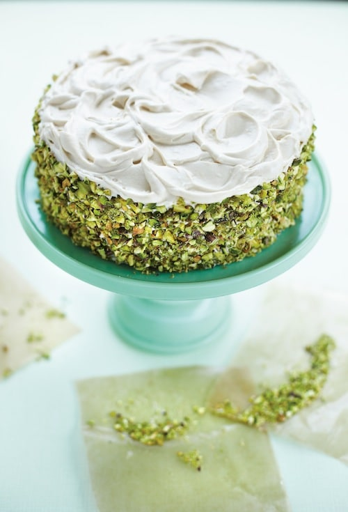 Keys to the Kitchen: Pistachio Carrot Cake with Brown Sugar-Cream Cheese Frosting