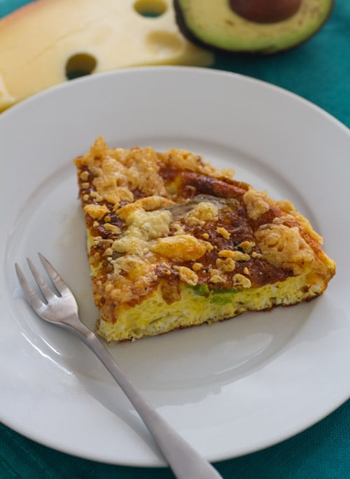 Jarlsberg Avocado Frittata Recipe (sponsored post)