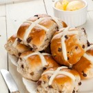 Apricot, Cherry, Cranberry and Cardamom Hot Cross Buns Recipe
