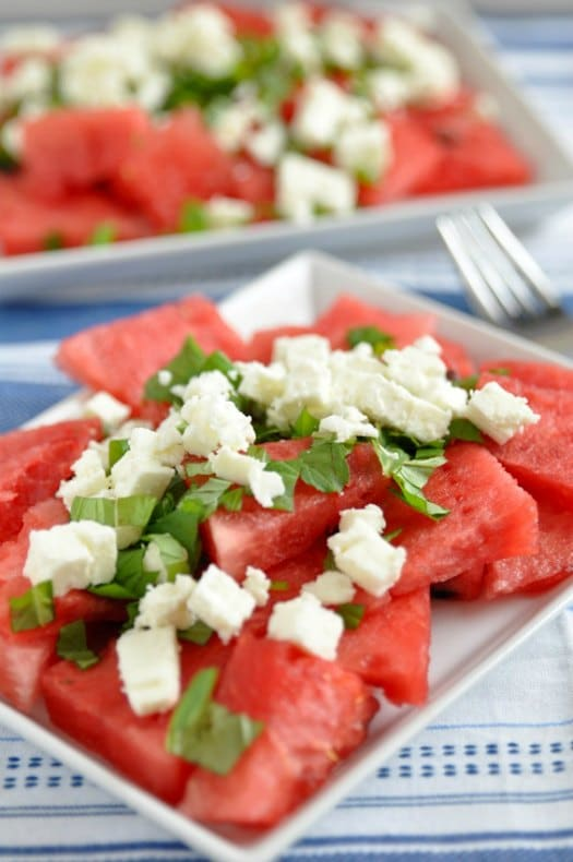 quick and easy watermelon mint salad with feta makes for a perfect ...