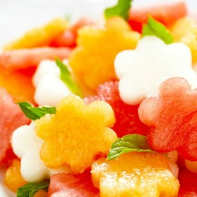Cutest Watermelon Basil Salad Ever on http://www.theculinarylife.com