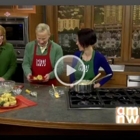 Turkey Mac-and-Cheeselets on AM Northwest - Turkey Leftovers Video on http://www.theculinarylife.com