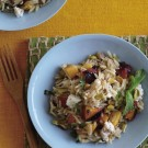 Summertime Macaroni Salad with Chèvre and Grilled Peaches