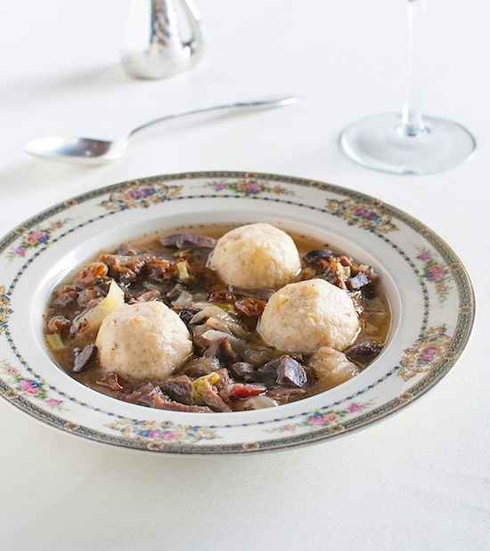 Ganseklein, a German giblet soup, from Duck Duck Goose on http://www.theculinarylife.com