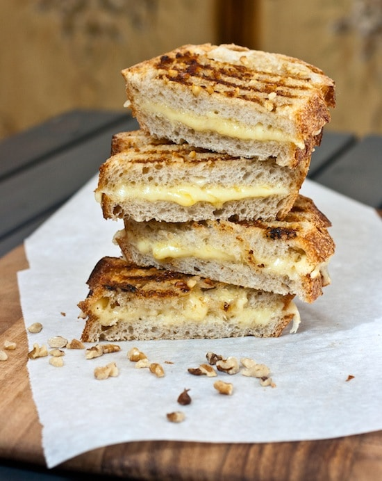 Honey Walnut-Crusted Aged Cheddar Panini Recipe - The Ultimate Panini Press Cookbook