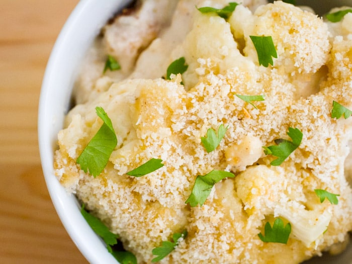 Crunchy Southern Cauliflower Casserole on http://www.theculinarylife.com