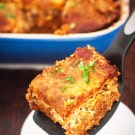 Healthy, Easy, and Cheesy Chicken and Brown Rice Enchilada Casserole