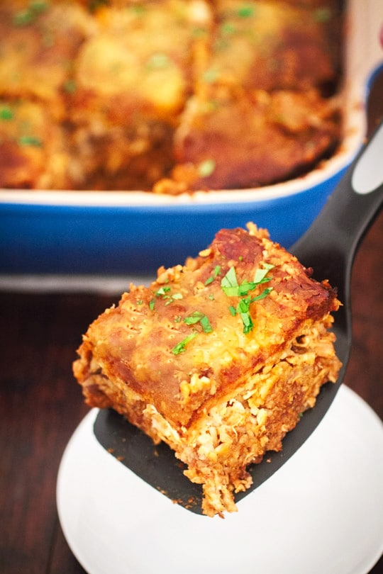 Healthy, Easy, and Cheesy Chicken and Brown Rice Casserole on http://www.theculinarylife.com