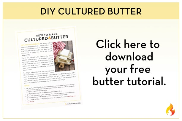 Make Your Own Cultured Butter on https://fearlessfresh.com