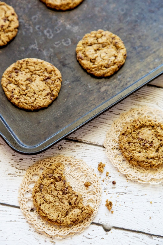 Chocolate Peanut Butter Cookies, Gluten-Free on http://www.theculinarylife.com/2014/chocolate-peanut-butter-cookies-gluten-free