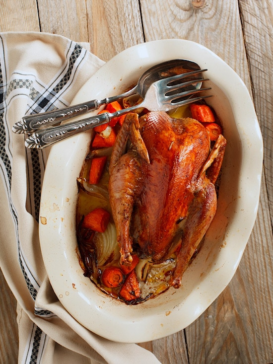 How to Cook Pheasant: Buttered Roast Pheasant with Cream and Bourbon