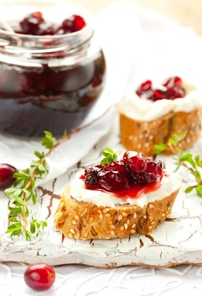 Recipe for Cranberry Jam and Clotted Cream (Double Boiler Method) on https://fearlessfresh.com/