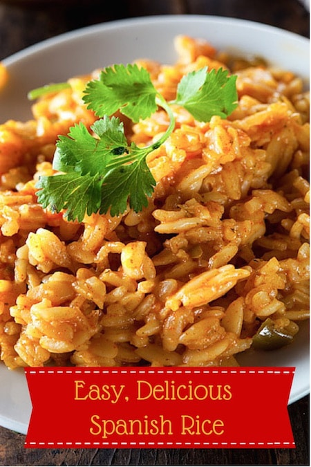 Easy Healthy Spanish Rice Recipe on https://www.theculinarylife.com