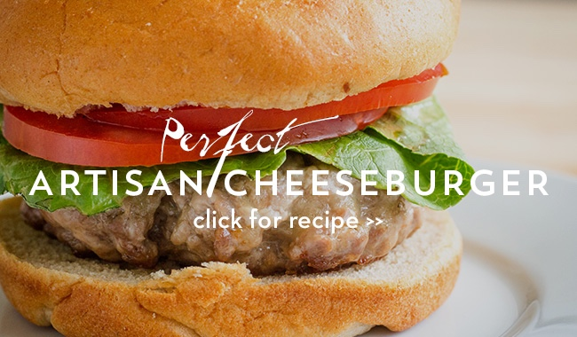 Perfect Artisan Cheeseburger on https://www.theculinarylife.com