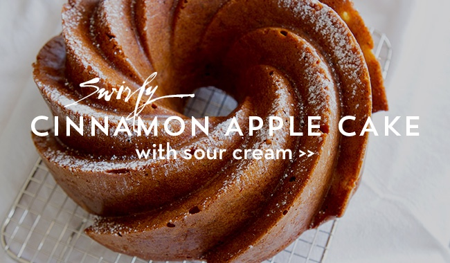 Cinnamon Apple Cake with Sour Cream on https://www.theculinarylife.com
