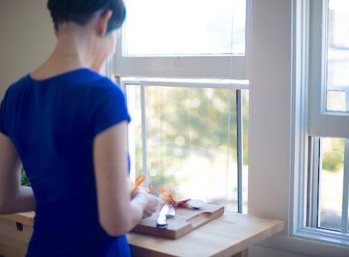 Kitchen Window on https://www.fearlessfresh.com